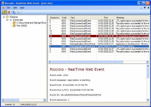 RealTime Web Event Provider